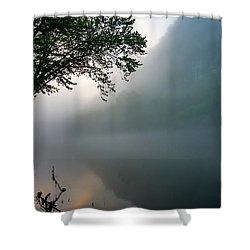 White River Morning Shower Curtain