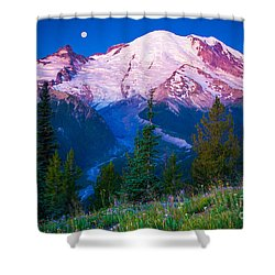 White River Predawn Shower Curtain by Inge Johnsson
