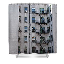 White  Shower Curtain by Rob Hans
