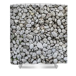 Shower Curtain featuring the photograph White Rocks Field by Jingjits Photography