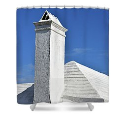 White Roof No. 6-1 Shower Curtain