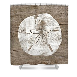 White Sand Dollar  Art By Linda Woods Shower Curtain