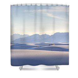 White Sands Blue Sky Shower Curtain