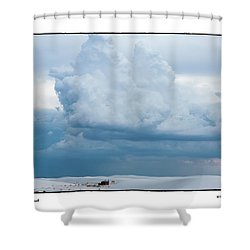 White Sands Cloud Shower Curtain by R Thomas Berner