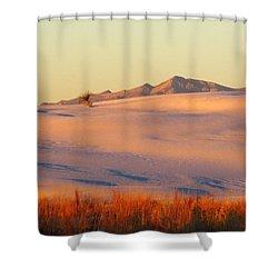 White Sands Dawn #27 Shower Curtain