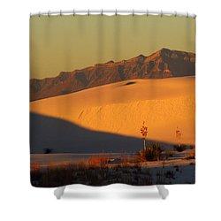 White Sands Dawn #37 Shower Curtain