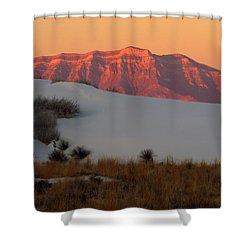 White Sands Dawn #4 Shower Curtain