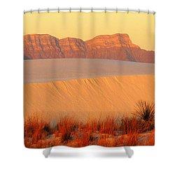 White Sands Dawn #8 Shower Curtain