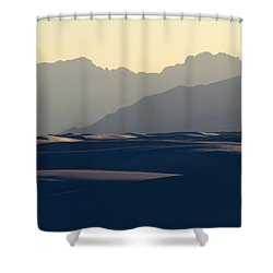 White Sands Evening #30 Shower Curtain