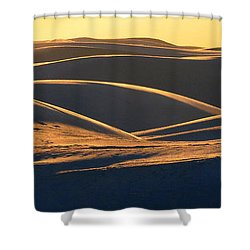 White Sands Evening #32 Shower Curtain