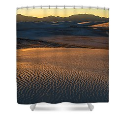 White Sands Evening #35 Shower Curtain