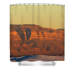White Sands Evening #37 Shower Curtain