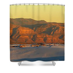 White Sands Evening #39 Shower Curtain