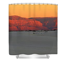 White Sands Evening #40 Shower Curtain