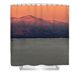 White Sands Evening #48 Shower Curtain