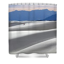 White Sands Hikers Shower Curtain