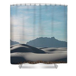 Shower Curtain featuring the painting White Sands Natural Anatomy  by Jack Pumphrey