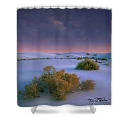 White Sands Starry Night Shower Curtain