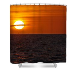 Shower Curtain featuring the photograph White Street Pier Sunrise by Greg Graham