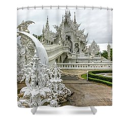 White Temple Thailand Shower Curtain