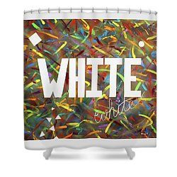 White Shower Curtain by Thomas Blood