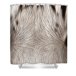 White Tiger Eyes Shower Curtain