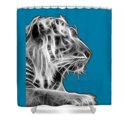 Shower Curtain featuring the photograph White Tiger by Shane Bechler