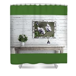 Shower Curtain featuring the photograph White Timber Cottage By Kaye Menner by Kaye Menner