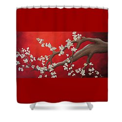 Cherry Blossom Painting Shower Curtain