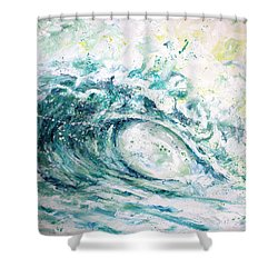 White Wash Shower Curtain