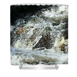 Shower Curtain featuring the digital art White Water by Barbara S Nickerson