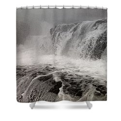 Shower Curtain featuring the photograph White Water by Raymond Earley