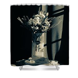 White Wildflowers In June Shower Curtain by Wendy Blomseth
