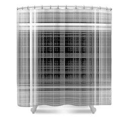 White Windows Shower Curtain
