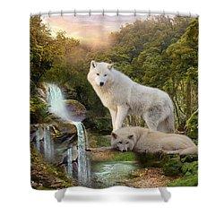 White Wolf Falls2 Shower Curtain
