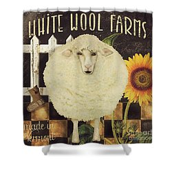 White Wool Farms Shower Curtain