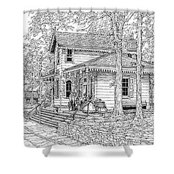 Whitehall Station Bryn Mawr Pennsylvania Shower Curtain by Ira Shander