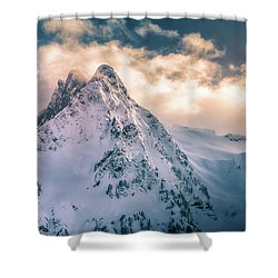 Whitehorse Clouds Shower Curtain
