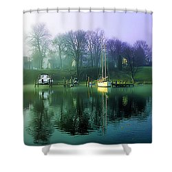 Shower Curtain featuring the photograph White's Cove Awakening by Brian Wallace