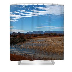 Shower Curtain featuring the photograph Whitewater Draw by James Peterson