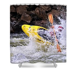Whitewater On The New River Shower Curtain