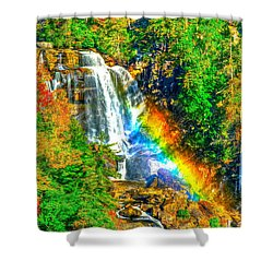 Whitewater Rainbow Shower Curtain