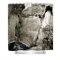 Whitewater Too Blu Shower Curtain by Jan W Faul