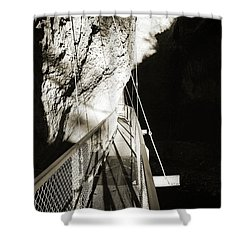 Whitewater Walk Shower Curtain by Jan W Faul