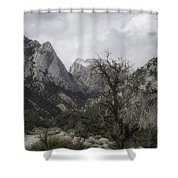 Whitney Portal Shower Curtain