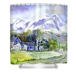 Whitney's White House Ranch Shower Curtain