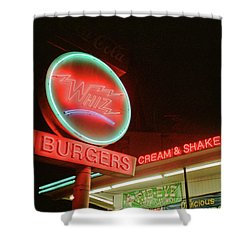 Whiz Burgers Neon, San Francisco Shower Curtain