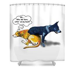 Who Dat Dere Shower Curtain