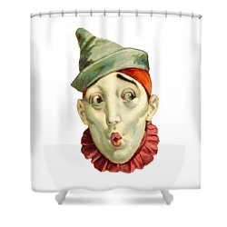 Shower Curtain featuring the digital art Who Me? by ReInVintaged