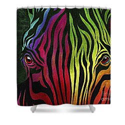 Shower Curtain featuring the painting What Are You Looking At by Peter Piatt